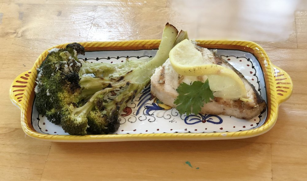 Joanna's grilled fish & broccoli