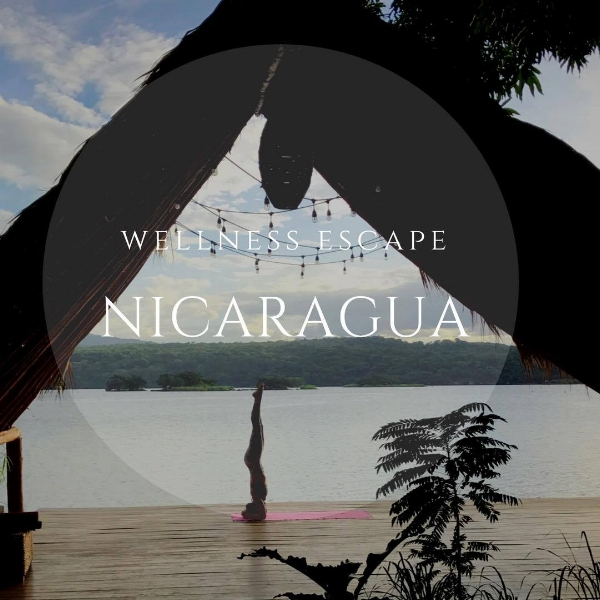 yoga deck overlooking Lake Nicaragua