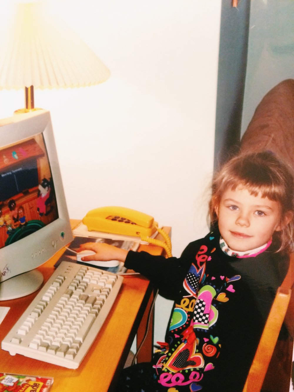 Surfin' the web since 200-something. Also rocking those baby bangs without even a care in the world.
