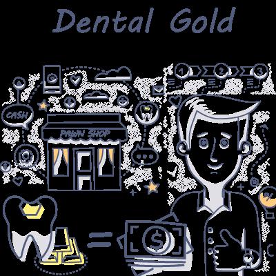Dental-Gold doodle drawing