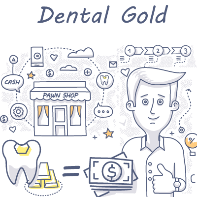 Dental-Gold exchanging for cash doodle