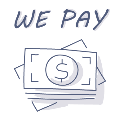 We-Pay-Cash doodle drawing