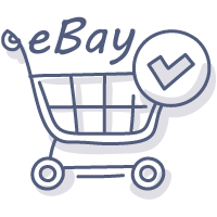 eBay shopping cart doodle