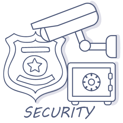 Security Camera Badge & Safe