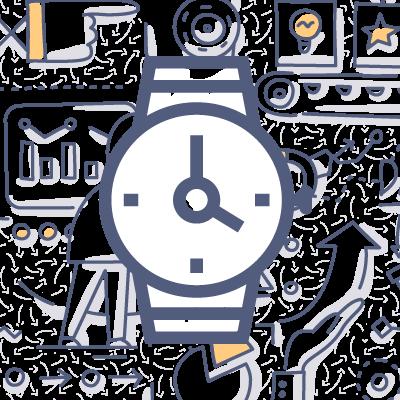 Designer watch doodle drawing