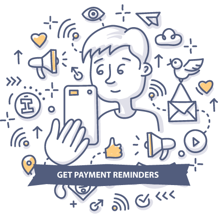 Get payment reminders doodle pic
