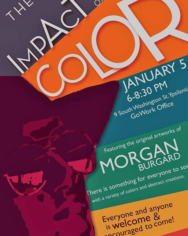We're excited to open up our space and hope you will join us and local artist @morganburgardart next Friday, January 5th from 6-8:30 p.m. for some free snacks, drinks and beautiful art! #ypsireal #ypsiart #downtownypsi