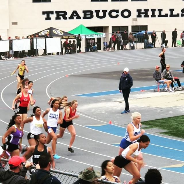 Many don't know Tiffany was a tough as nails #usatf official that didn't take no guff.  Today she's helping officiating the 4x100 relay at #trabucohillshighschool #cif prelims. - - - - #trackandfield #sprintacademy #givingback #sprinttechnique #handoffs #helpingout