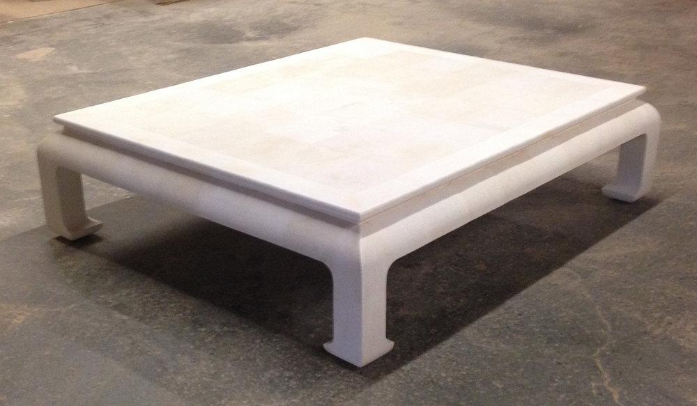 Faux Shagreen Table