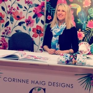Corinne's beautiful Surtex booth
