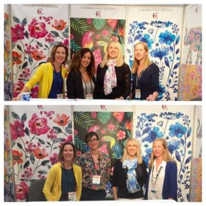 Corinne Haig's Surtex booth and assistants