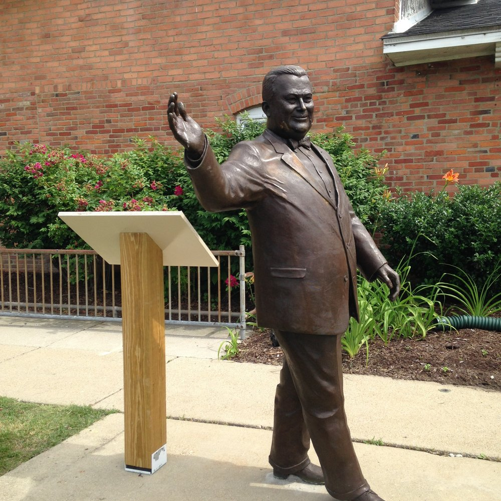 Statue of Orville Hubbard, now located by Dearborn Historical Museum