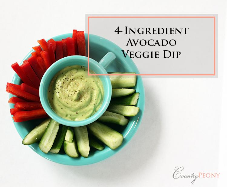 Four Ingredient Avocado Veggie Dip