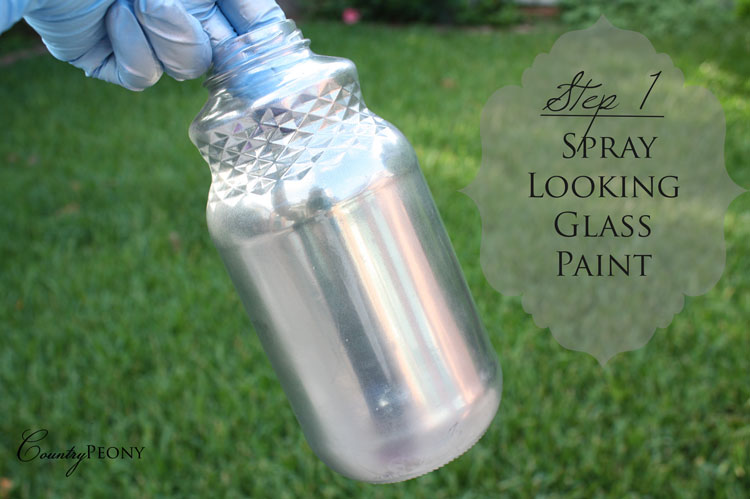 DIY Faux Mercury Glass