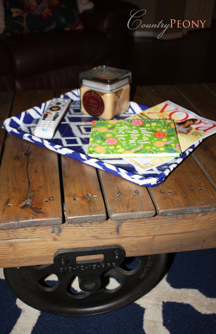 DIY Coffee Table Tray