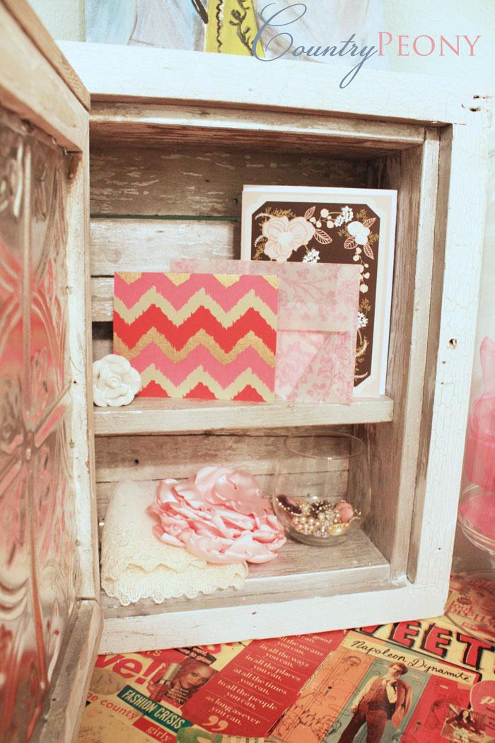 DIY Crackled Cabinet