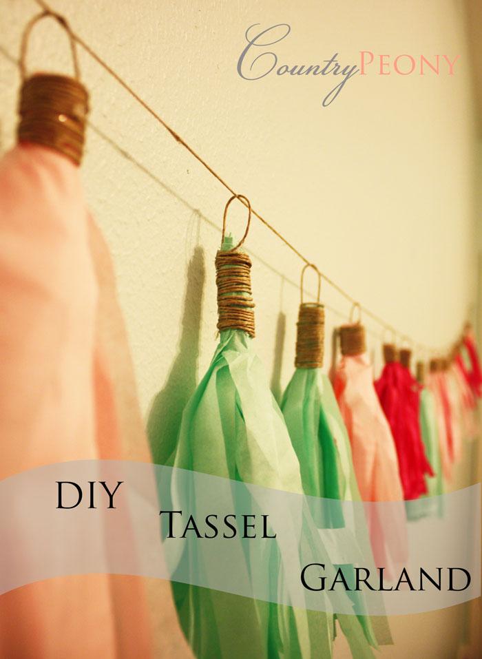 DIY Tassel Garland
