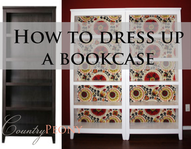 Fabric Back Bookcase