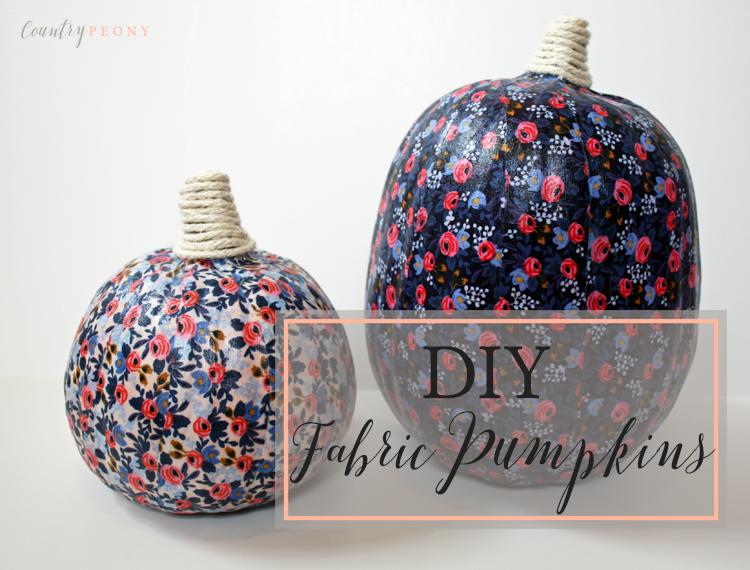DIY Fall Fabric Pumpkins