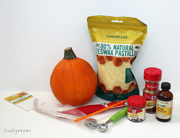 DIY Real Fall Pumpkin Candle