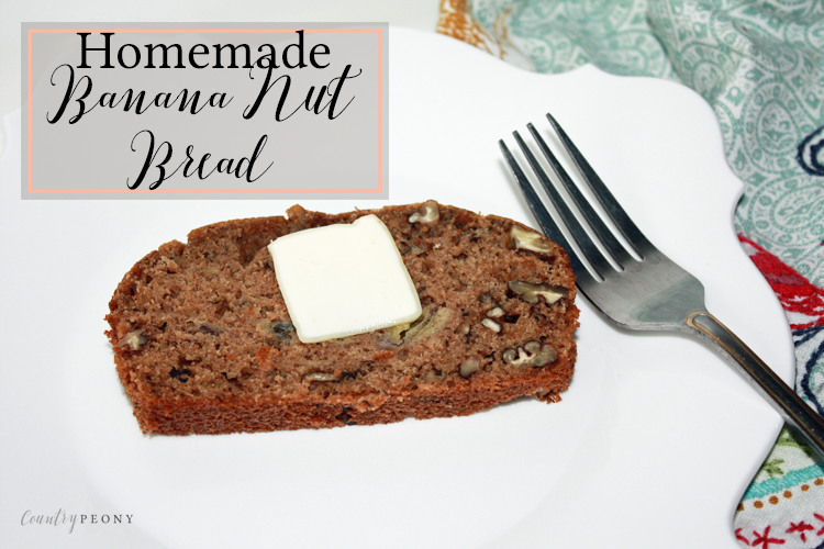Homemade, Healthy Whole Wheat Banana Nut Bread