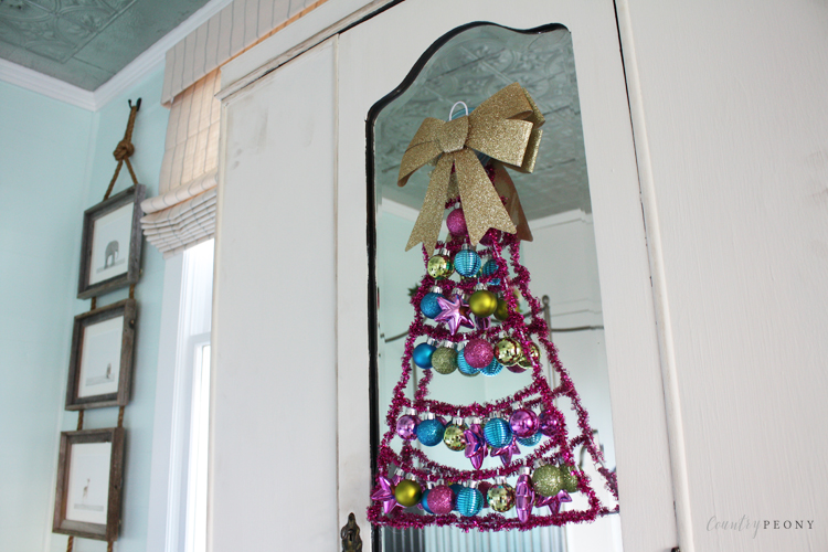 DIY Children's Whimsical Clothes Hanger Christmas Tree