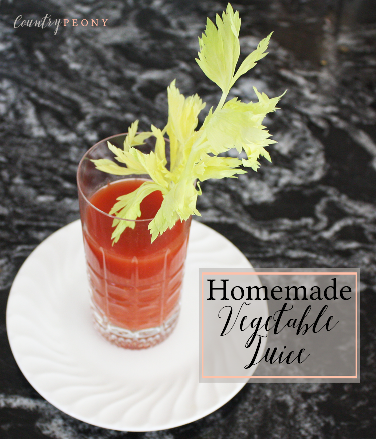 Homemade Vegetable Juice