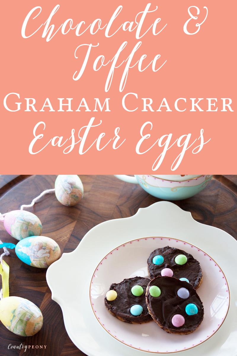 Chocolate & Toffee Graham Cracker Easter Eggs