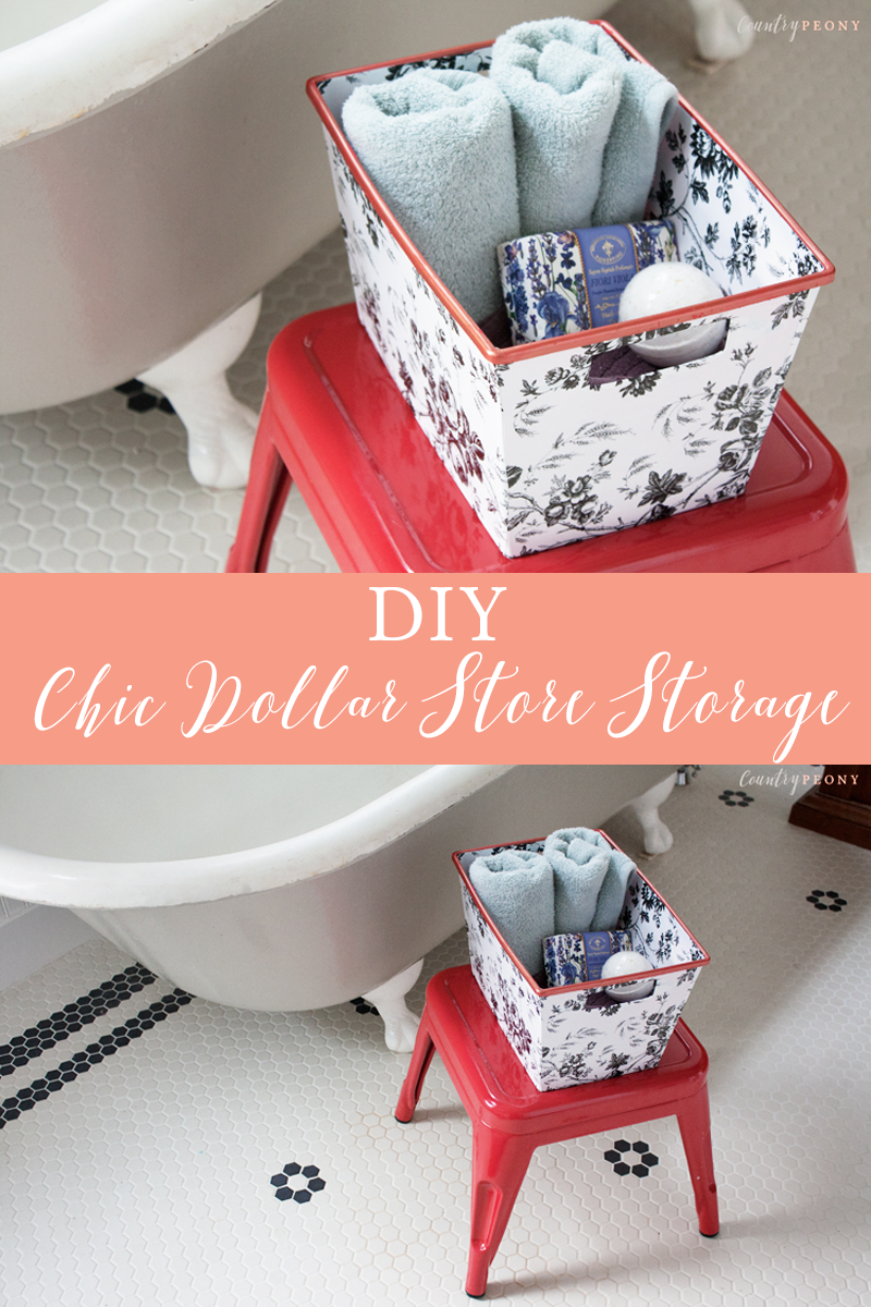 DIY Chic Dollar Store Storage