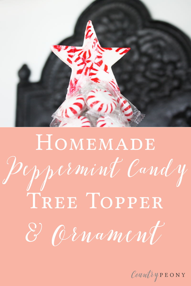 Homemade Peppermint Candy Tree Topper