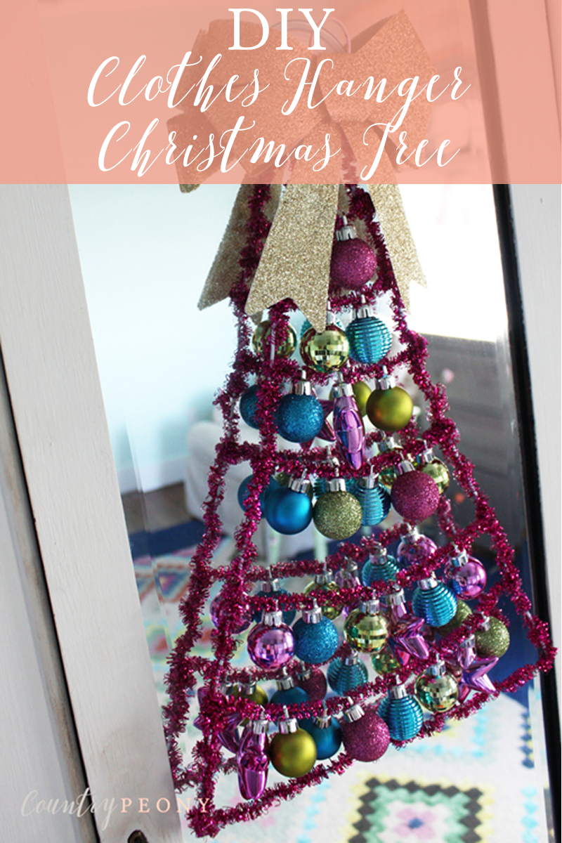 DIY Clothes Hanger Christmas Tree