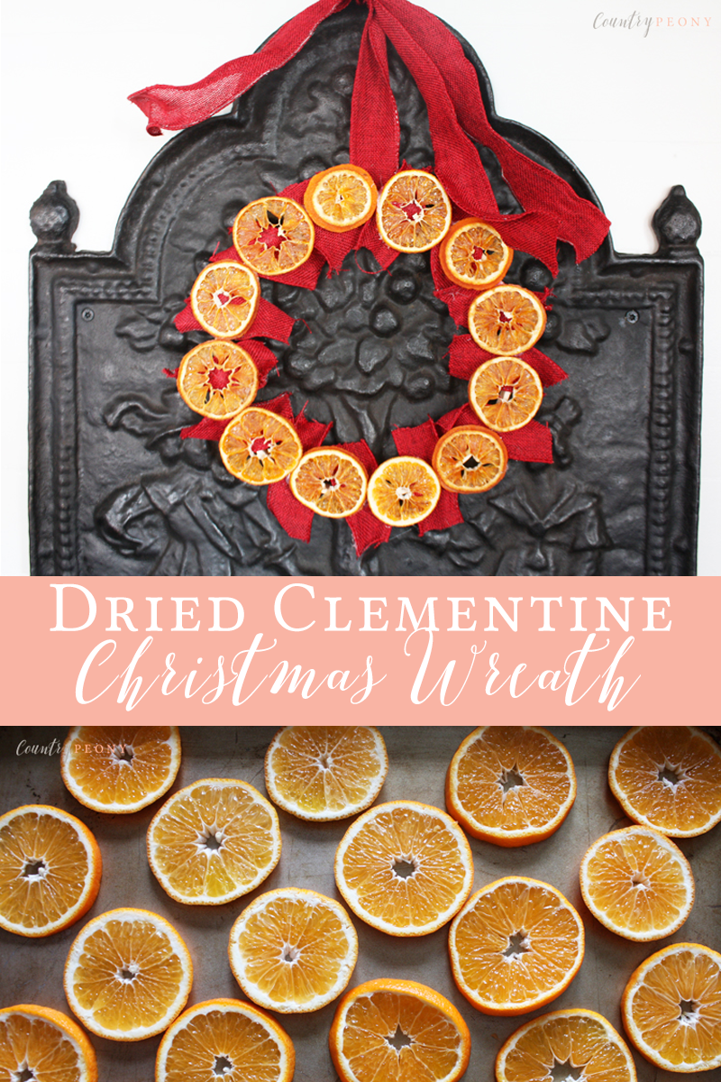 Dried Clementine Christmas Wreath