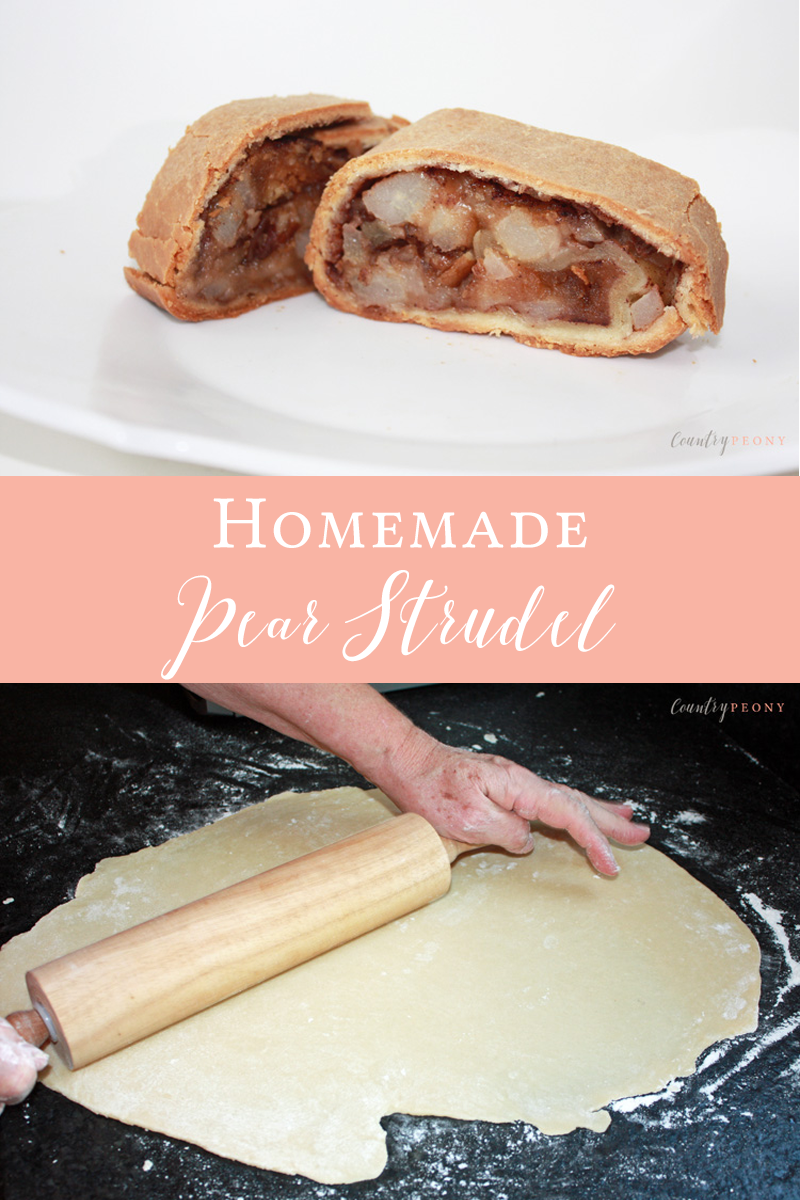 Homemade Pear Strudel