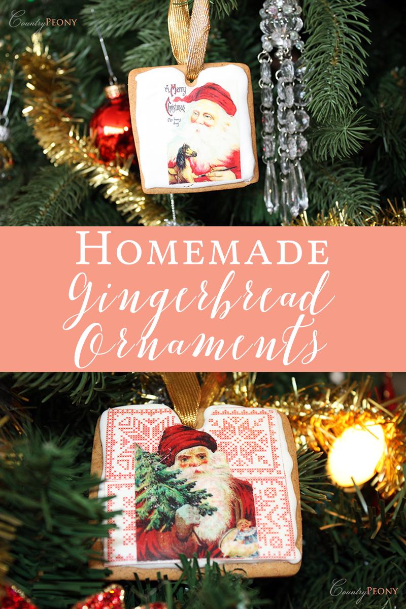 Homemade Gingerbread Christmas Tree Ornaments