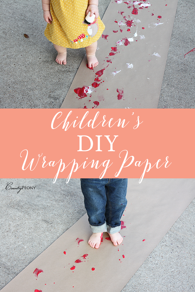 Children's DIY Wrapping Paper
