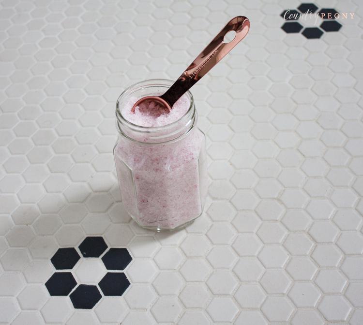 DIY Rose Bath Salt