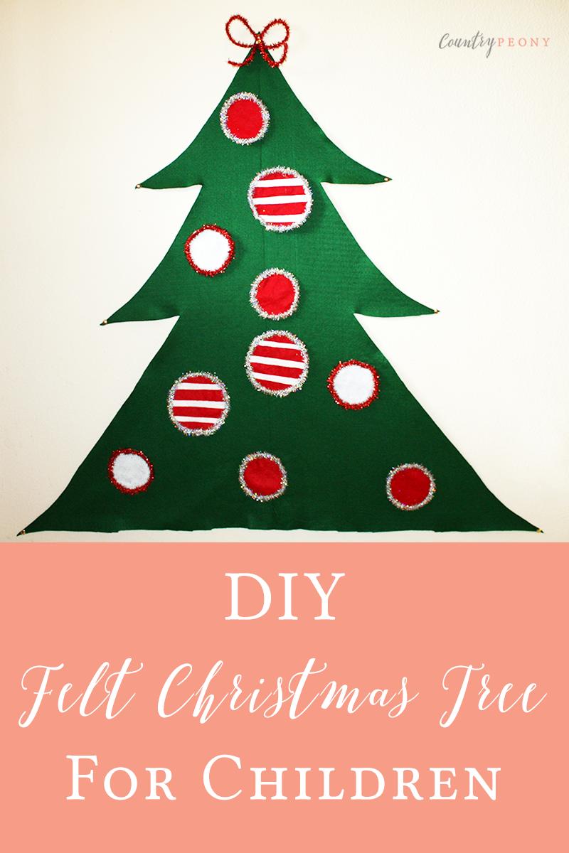 DIY Christmas Felt Tree for Children
