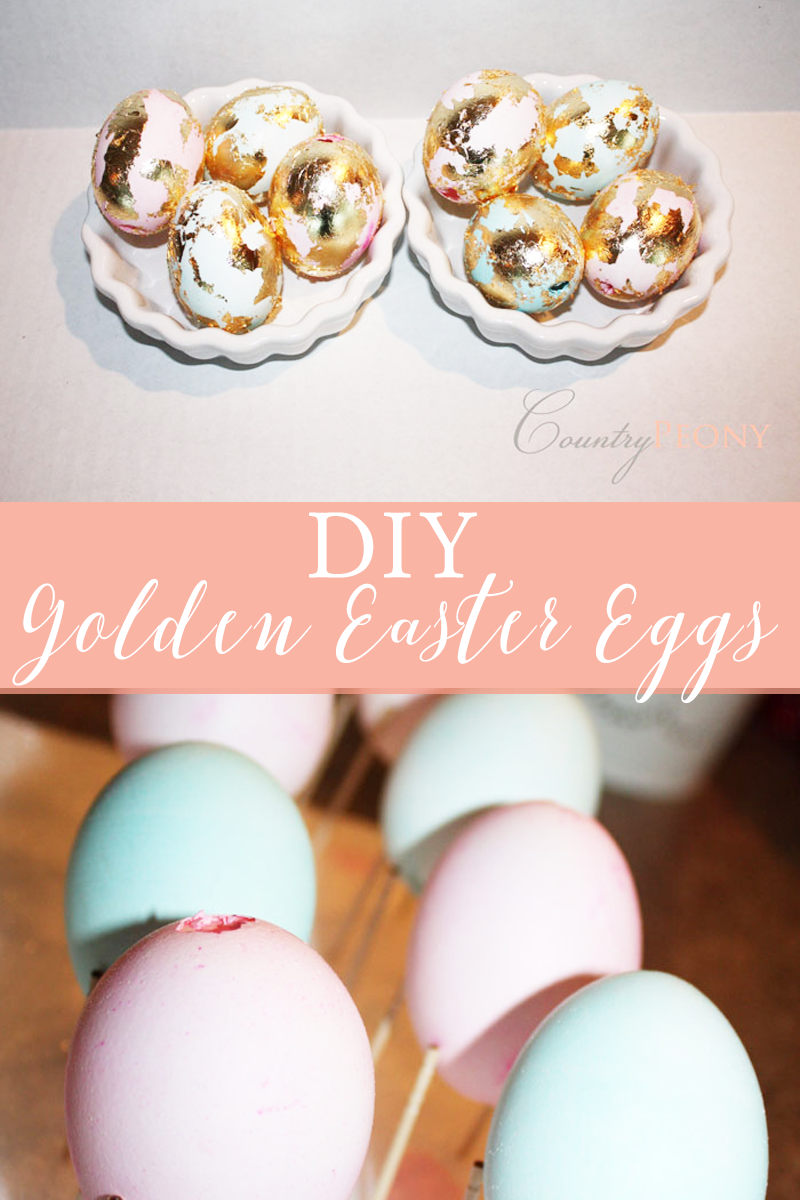 DIY Golden Easter Eggs