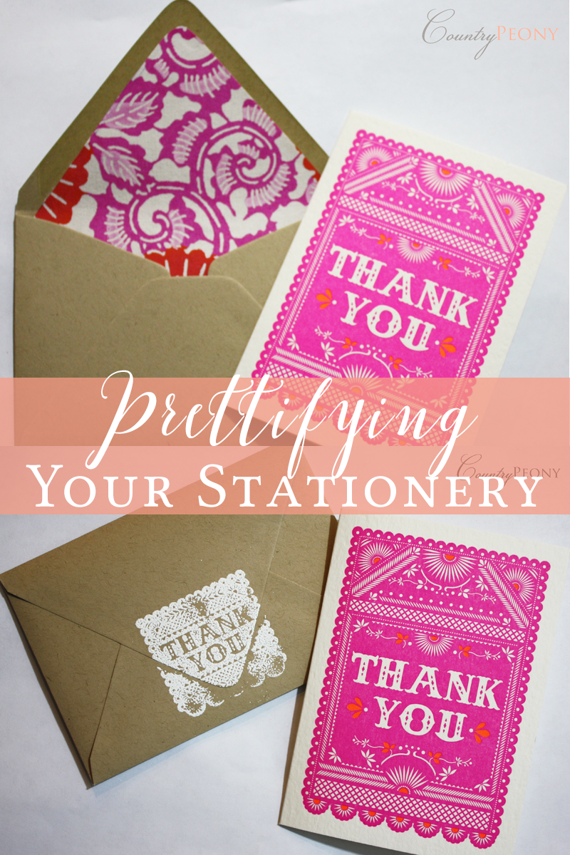 Prettifying Your Stationery