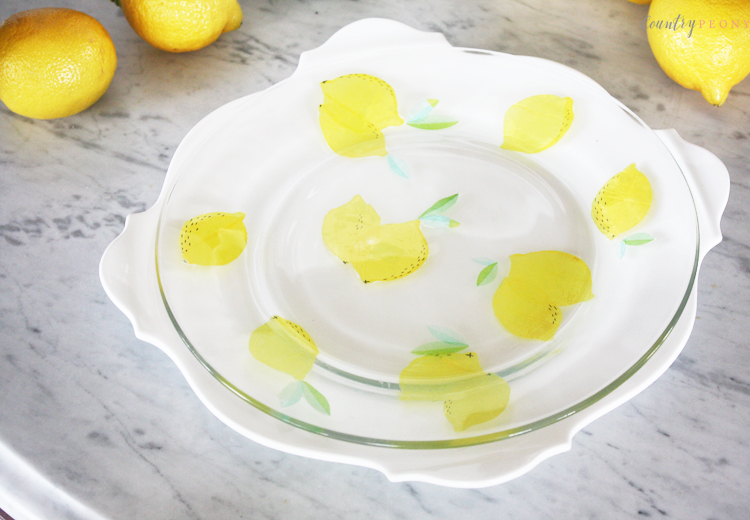 DIY Patterned Glass Plate with Mod Podge
