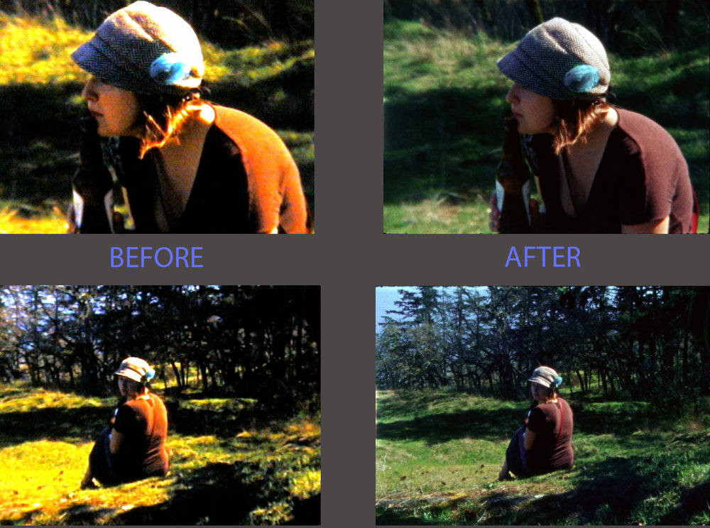 """BEFORE"" is another service provider.  ""AFTER"" is the customer's screen shots from our transfer, Lifetime Heritage Films."