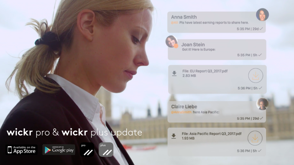 Wickr  Pro & Wickr Plus Update: Private collaboration platforms for team and enterprises