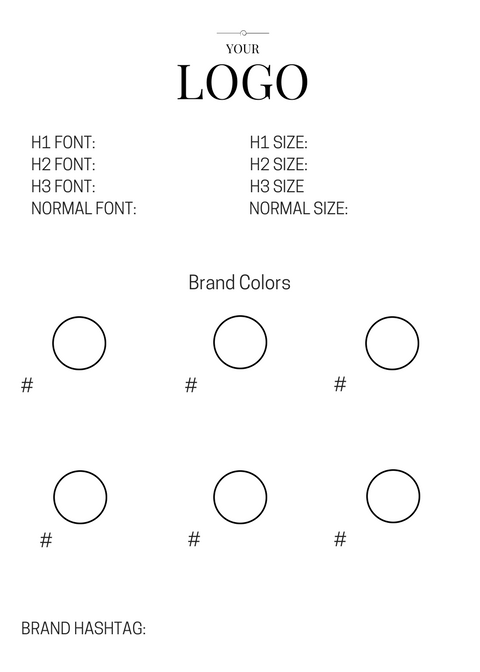 Brand style guide template