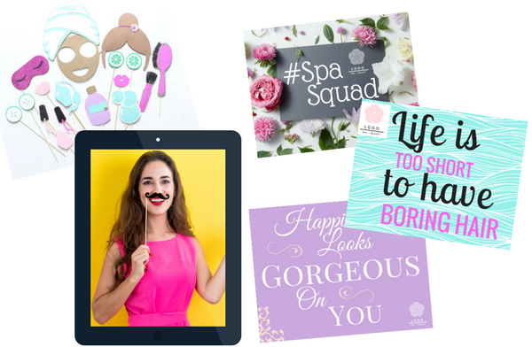 PERSONAL TOUCH - We'll send you monthly ideas for inspiration + each quarter you receive a new pack of signs & photo booth props. Your office team can use the provided iPad to take photos & videos that we will post to your social profiles to boost interest & engagement