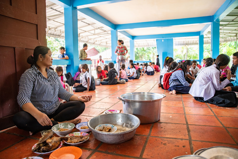 Damnok Toek provides a warm healthy meal for the students who attend the Education Program.