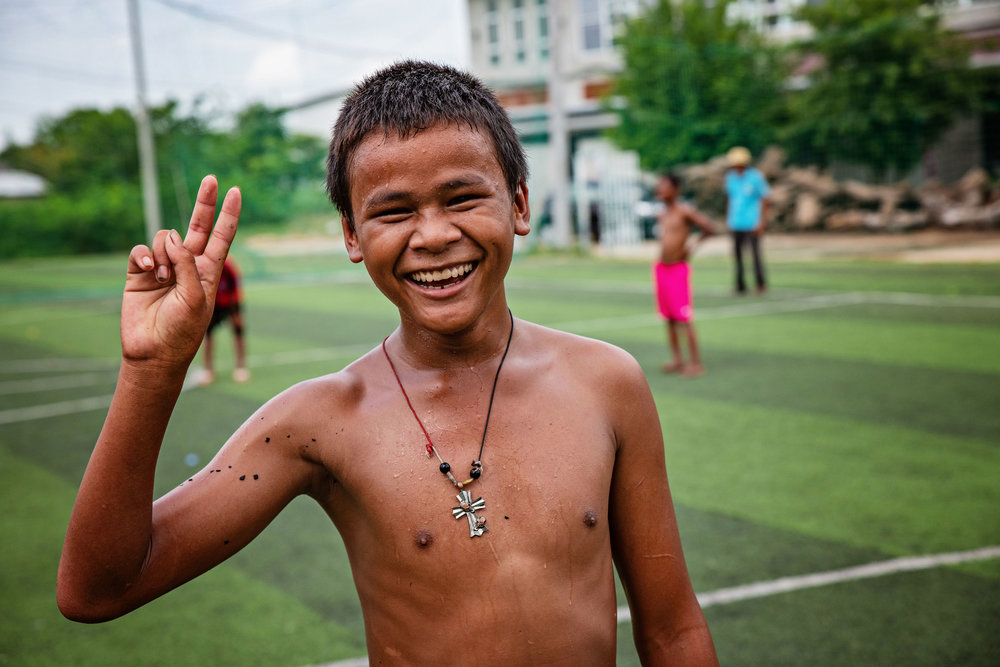 This boy has spent most of his life high on glue. He has been working with coordinators from Damnok Toek to get clean. He wants to go to school and teach some day.