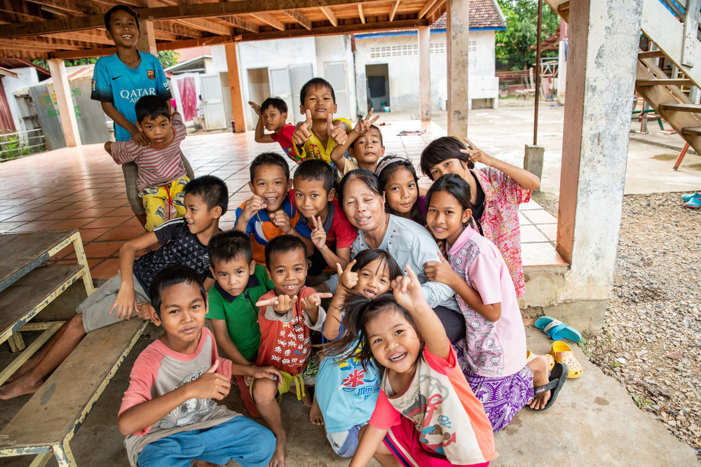 Most of these kids have been picked up at the border. Their parents somewhere in Thailand working. Damnok Toek has taken them in and provided them with a safe space to learn, play, eat, and get medical attention.