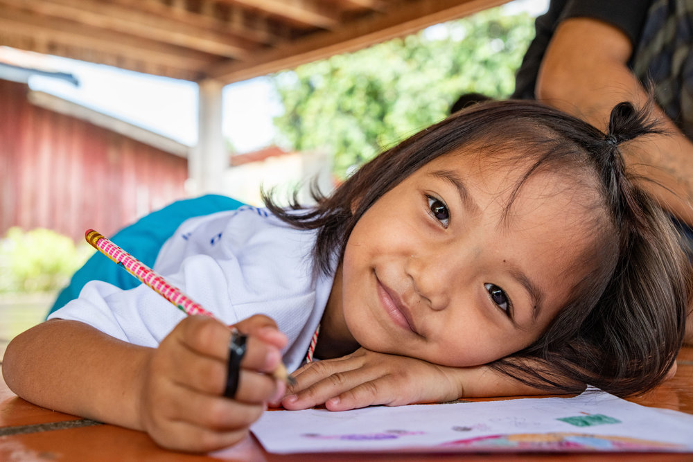 This little one is actually from Vietnam. She was picked up by the Thai border patrol for working the streets and bought to Cambodia. When she arrived she only spoke a little Vietnamese. Odds are they will never be able to find her parents.