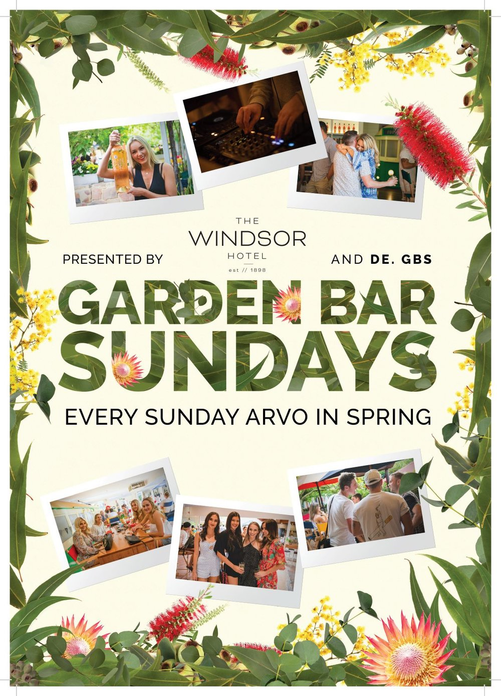 GARDEN BAR SUNDAYS   The best Sunday Session south of the river is here, in the Garden Bar every weekend in Spring. Including $8 Cocktails, $15 Grazing Boards and live DJ's spinning house and nu disco all afternoon long!
