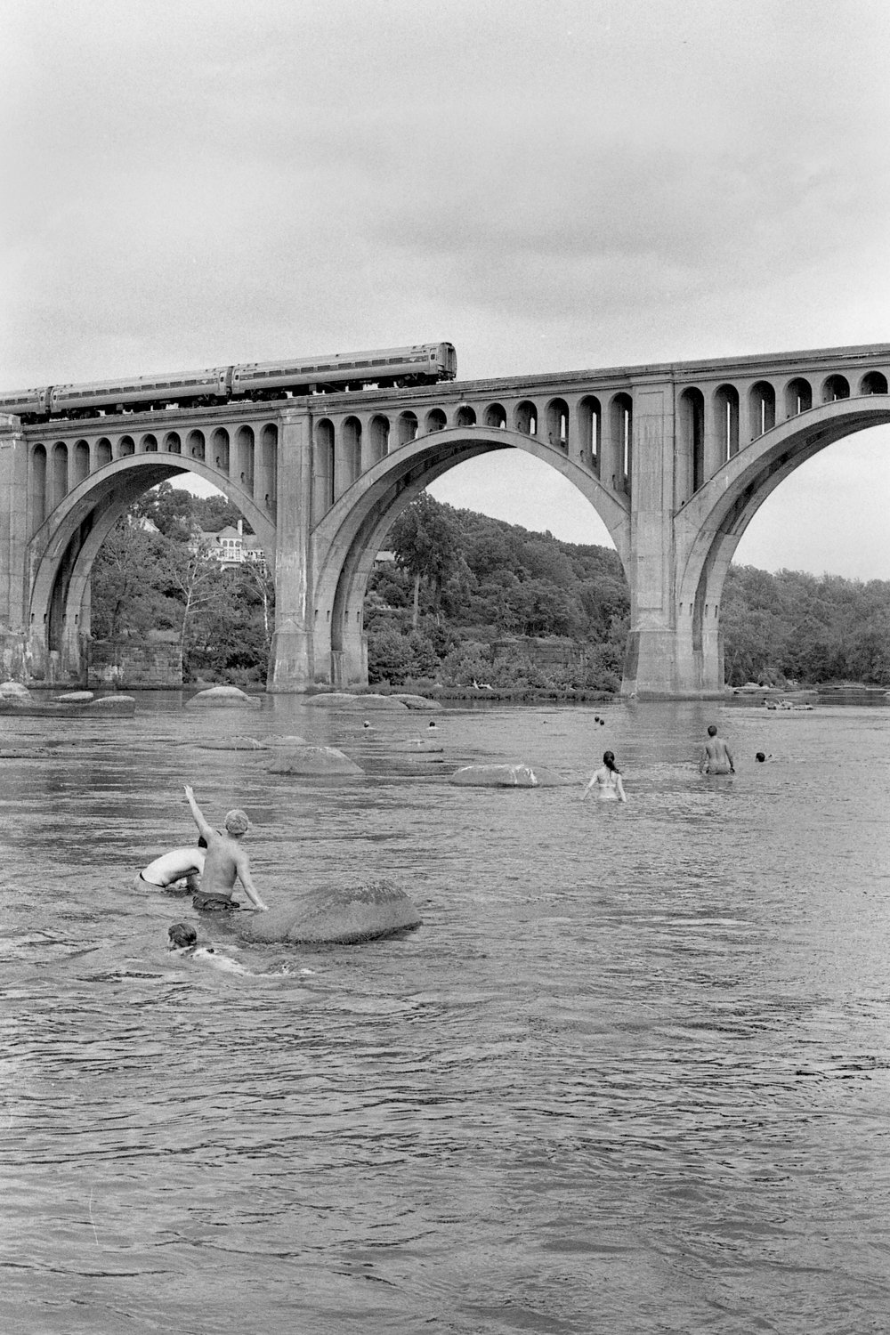 John Dijulio,  Trip to the River with Sam, John, and Hei , silver gelatin print